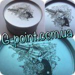 Лазерная гравировка на металлической поверхности